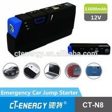 Rechargeable car jump starter power bank jump start car battery pack CT-N8 13600mah for emergency dead car