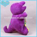 4 lindo tamaño de color púrpura dinosaurio barney muñecos de peluche de juguete de felpa