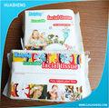 El mercado de japón de la belleza facial 100% de tejido de algodón hs76 extraíbles pack tejido seco& mojado uso