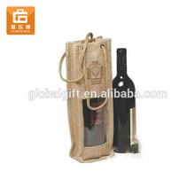 Gift Jute Wine Carrier Shouldr Bag