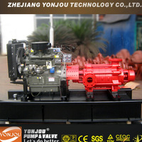 Fire Pump of NFPA 20, Horizontal Multistage Centrifugal Pump, Multistage Pump with Diesel Engine
