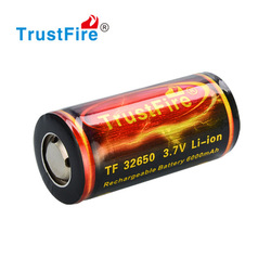 Trustfire wholesale 32650 battery 3.7V 6000mah new model battery rechargeable battery with flat top