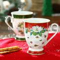 10oz porcelana de hueso nuevo diseño de la navidad tazas de cerámica de navidad nuevo