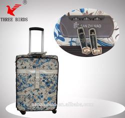 [Three Birds] push button pu luggage bag case Carry-on Luggage,trolley luggage,luggage scale