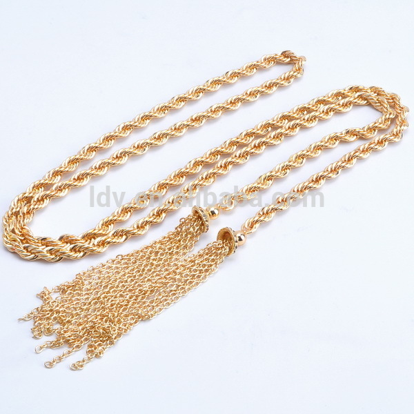 Hot New Products For 2014 Long Gold Tassel Necklace