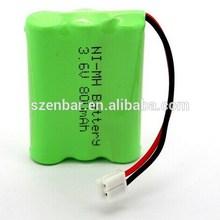 3.6v aa nimh battery pack 800mAh