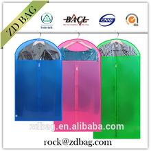 non woven garment suit bag , clear plastic zipper garment bag