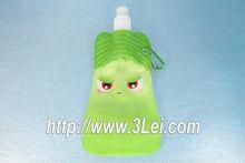 forma de la botella de plástico desechables bolsa de agua
