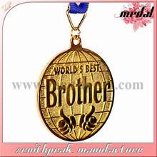 2014 Christmas gift engraved metal gold medals,gold medal label plate,gold medal athletics
