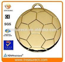 blank gold metal football shape World Youth Championship sport medal