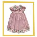 venta al por mayor hermosa raya poco de bebé grils vestido