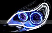 DIY customized shape 120cm white/red/blue/yellow/amber Led Flexible Strip light bar drl daytime Running Light