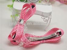 Children Ribbon Bow girls butterfly hair clip