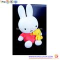 venta caliente 2014 lindo conejo de peluche bebé muñeca de niña juguetes de regalo