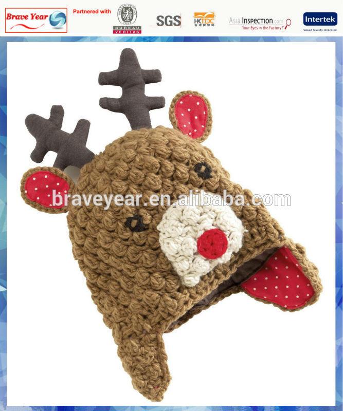 kids cute reindeer animal hats hand knitted hat