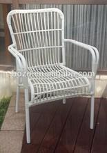 Aluminum frame round wicker rattan chair