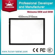 alibaba hot sale! huion Slim led light box/Led tracing board animation trace board A3