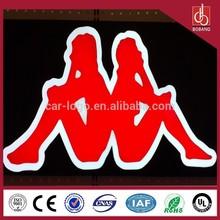 Custom plastic material Double side backlit rearlit LED Advertising sign board