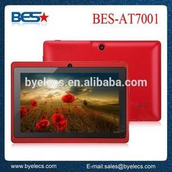 Delicate colors G sensor dual camera 7 inch q88 android tablet mini