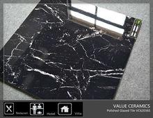 foshan black glazed porcelain tile looks like marble