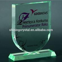 Barato blanco cristal premios cristal trofeo placa