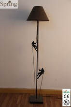 Hot Modern Indoor Iron Floor Lamp with Linen Shade Made in China