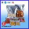 clear window plastic custom zipper bag for snack packaging