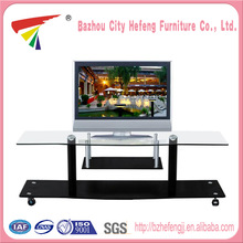 High Quality glass moving tv stand