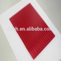 100% virgin GE sabic polycarbonate plastic hollow sheet for bus station shelter