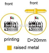 2014 High quality UAE 7 sheikhs gold cufflink mens cufflinks for national day gifts