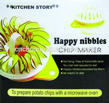Microwave DIY Homemade Baked Potato Chips Maker Roasters Snack Maker Baking Tray
