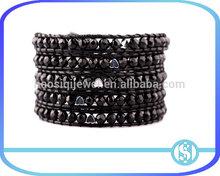 Black agate Healing stone high blood pressure heart disease heart-shaped agate bracelet