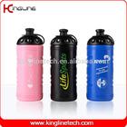 Customized logo plastic sport water bottle,platic sport bottle, 600ml sports water bottle maker (KL-6608)
