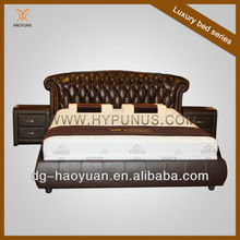 Hypunus best quality household furniture of leather bed