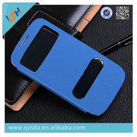Samrt windows leather Case for Samsung Galaxy I9300 S3 flip leather case