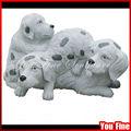 mão que cinzela cão granito estátua de pedra animais