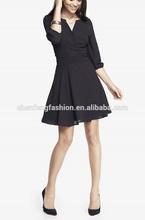 CHEFON Surplice wrap fit and flare sexy woman dress fashion 2014