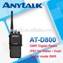 Best quality AT-D800 IP67 digital model SMS DMR ham radio