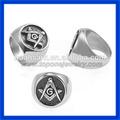 2014 china fornecedor do aço inoxidável dos homens anel maçônico anel de sinete atacado