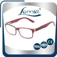 Spring hinge square rubber eyeglasses