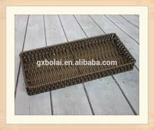 Handmade Brown Color Plastic Rattan Bread Basket