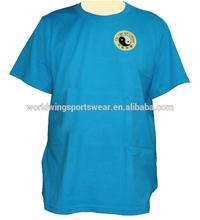 Unisex polyester coolmax eyelet round neck embroidered blue Taiji T-Shirt