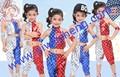 Infantil de dança jazz, dança de rua a cinco- pintura estrela uma nova performance de roupas