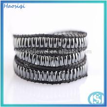 2014 new style wholesale 51cm 4*6 mm hematite beads bracelet