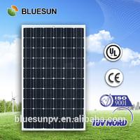BLUESUN manufactuer company TUV/UL/CE high quality monorystalline 260W portable folding solar panel kits