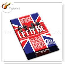 2014 custom tin paper blank france fridge magnet