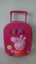 cute peppa pig eva kids trolley school bags