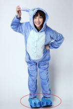 Traje del conejito, Azul traje de la mascota, Traje de conejo