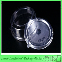 Transparent round palstic cake tray with lid