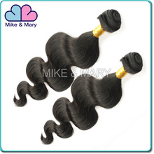 Mike and Mary 5A grade 100% unprocessed hair extensions, natural color Brazilian hair Wavy